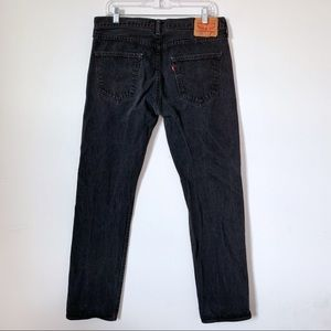 Levi's 501 Black Jeans 34x34 Button Fly High Waist